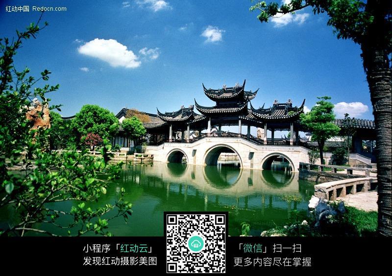 鹤亭桥图片_园林景观图片