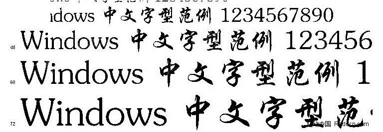 方正行楷 GBKttf免费下载 中文字体素材图片