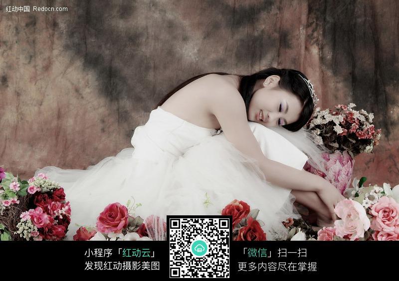 甜美的婚纱女孩图片 女性女人图片