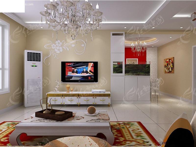 欧式客厅效果_室内设计