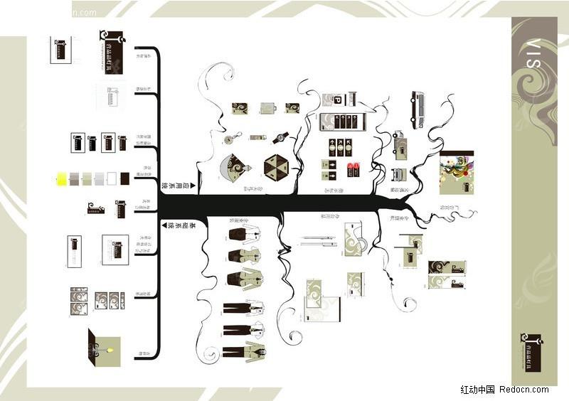 树形图cad2010尺寸图纸图片