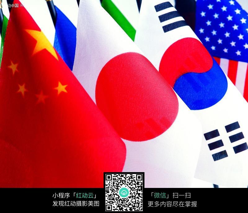 中国日本韩国美国等小旗帜图片 生活用品|日常