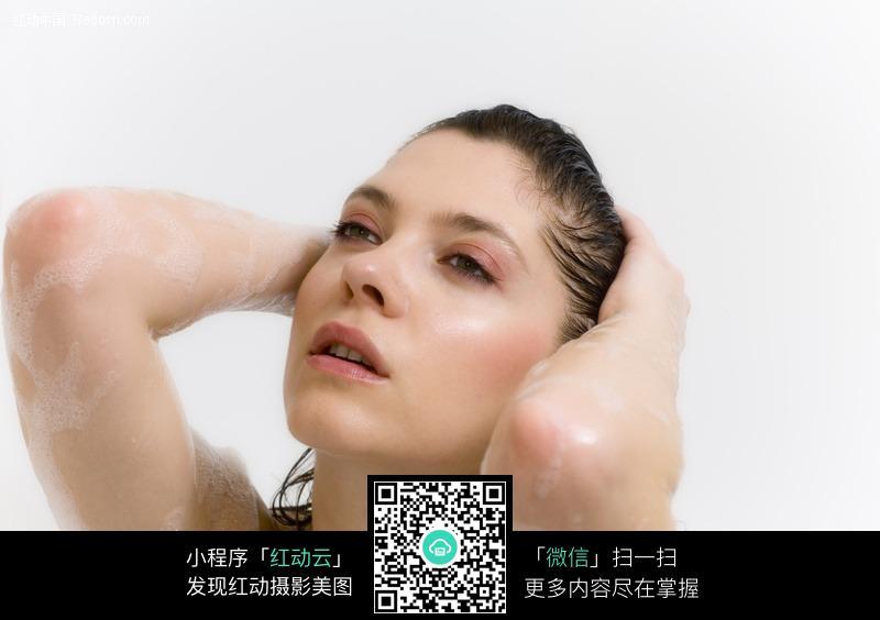 沐浴的外国美女图片 人物图片素材|图片库|图库