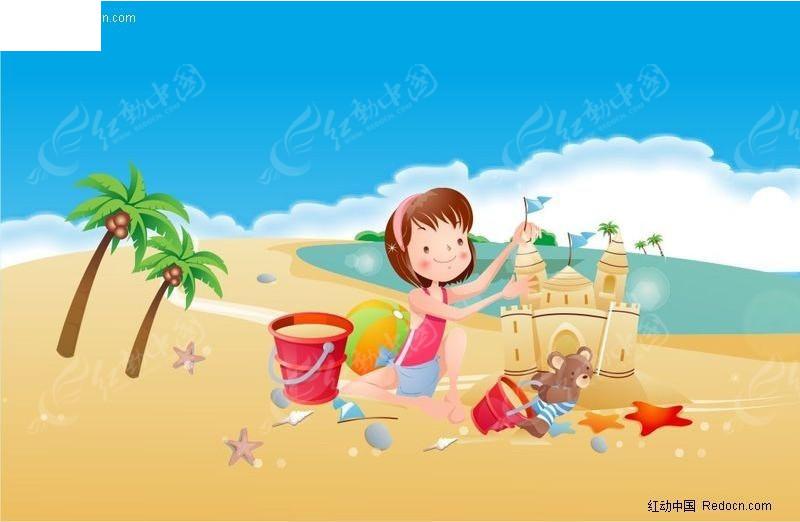 海边的城堡简笔画