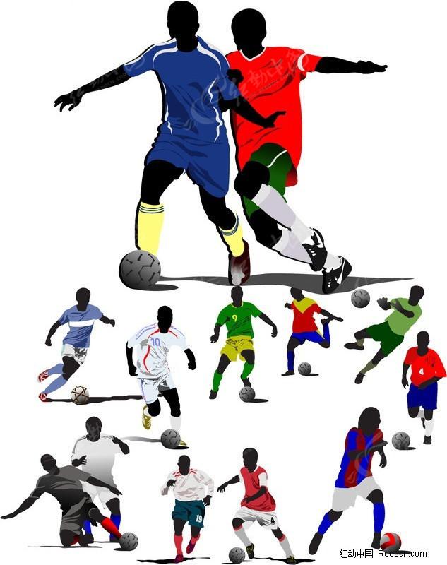 多款足球运动矢量素材
