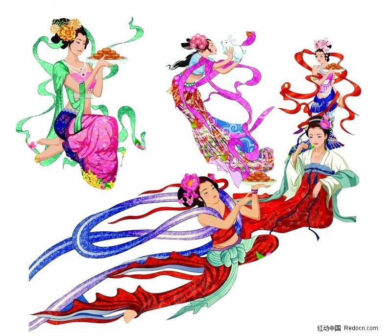 古代神话飞天仙女图片素材