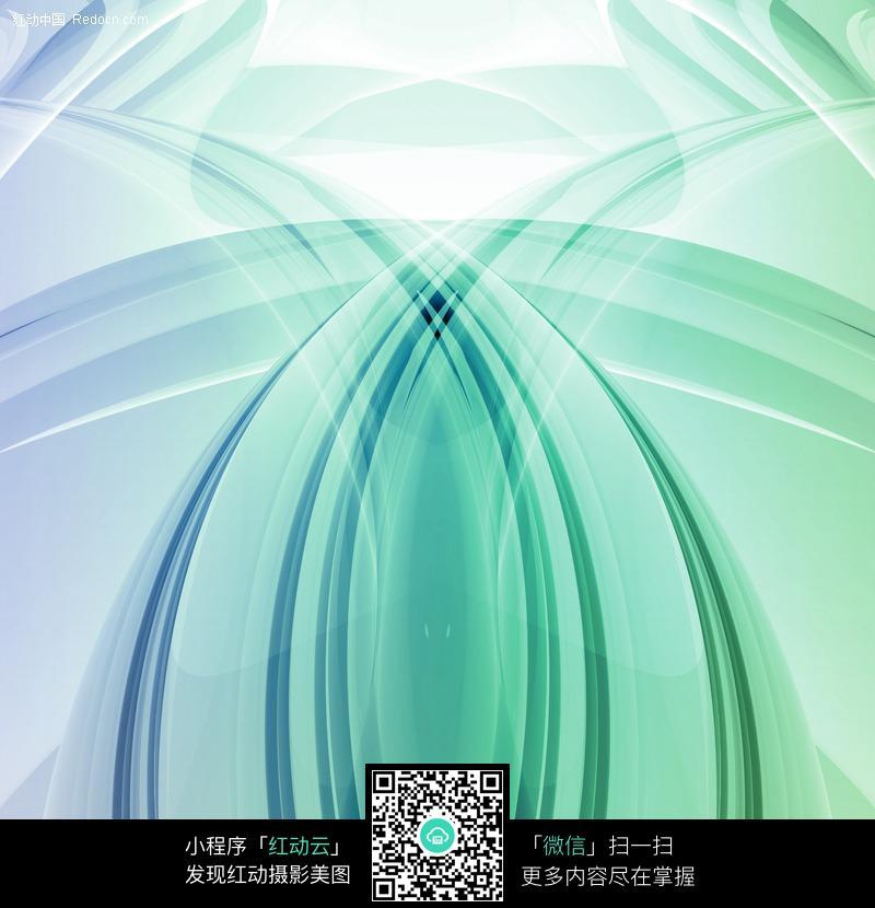 动感蓝绿线条背景图片