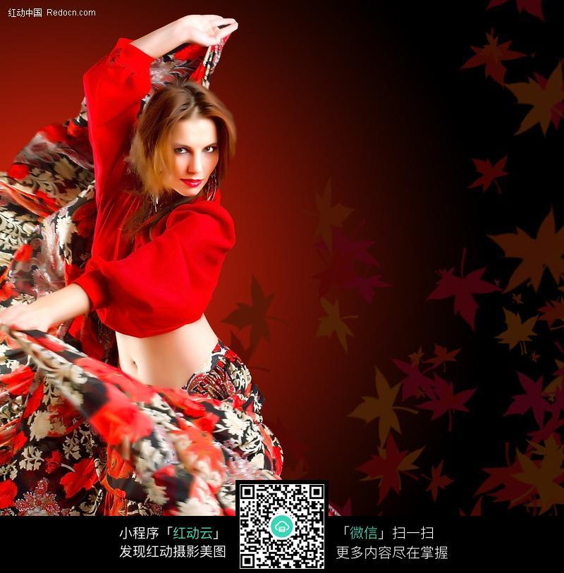 舞蹈的外国美女图片 职业人物图片