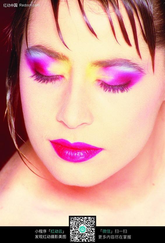 画着浓妆的女人图片 人物图片素材|图片库|图库