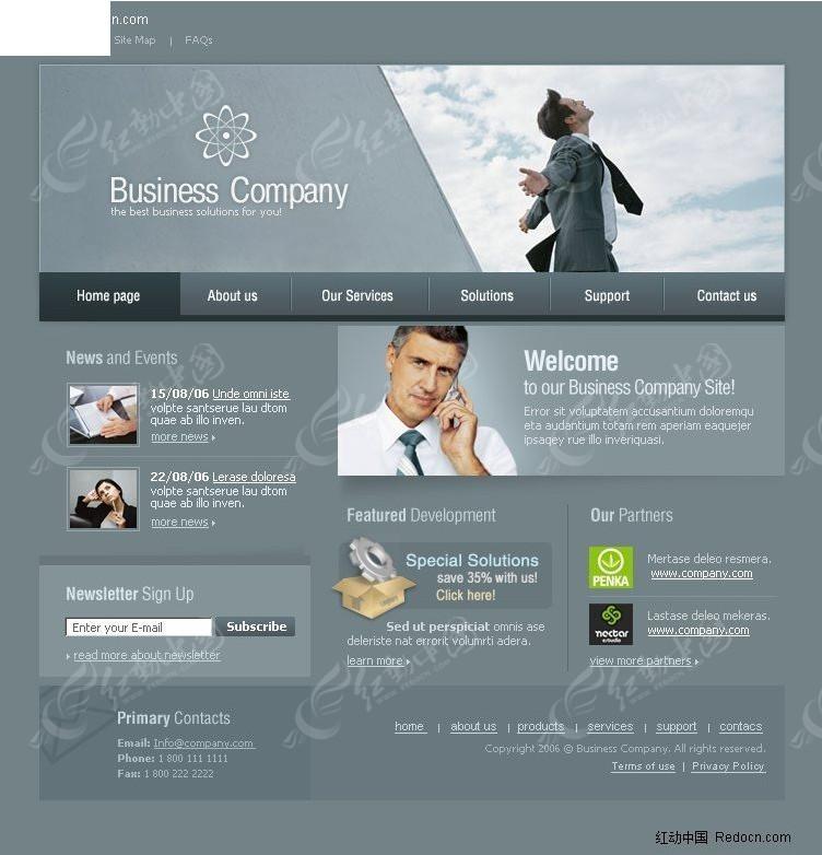 欧美成网站_免费素材 网页模板 网页模板 欧美模板 金融公司网站设计模板  请您