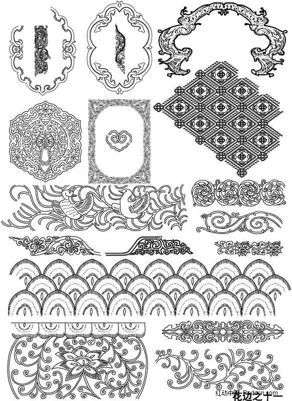 藏族传统花纹手绘