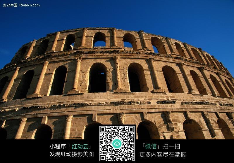 名胜古迹建筑绘画高清图片