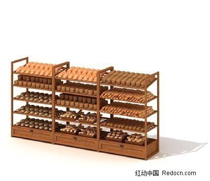 商场货柜3D模型图片