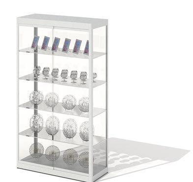 超市酒类物品展示架3d模型