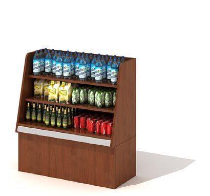 商场饮料展示柜3D模型图片