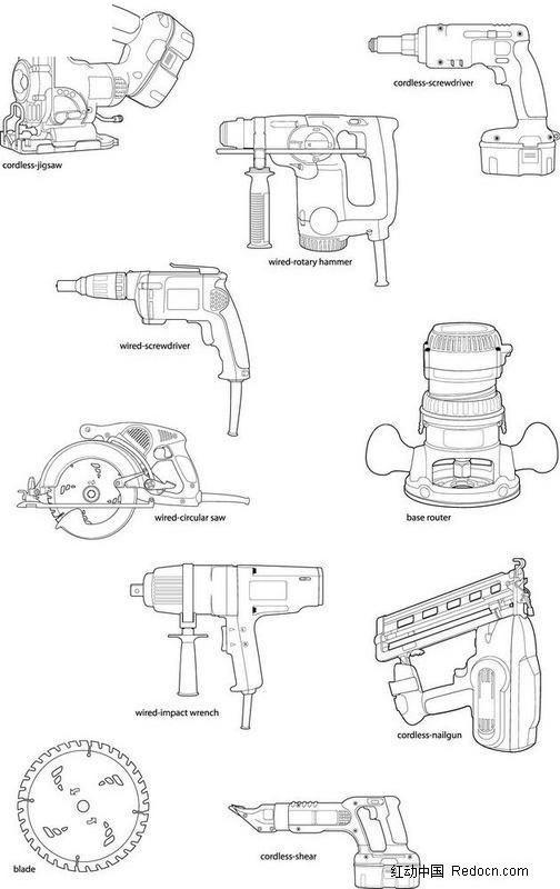 机械工具手绘图