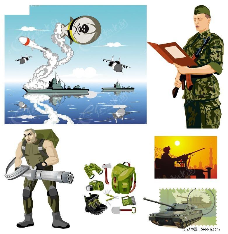 军旅主题矢量矢量图_职业人物