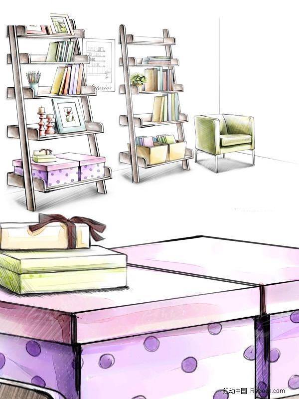 沙发椅 书籍