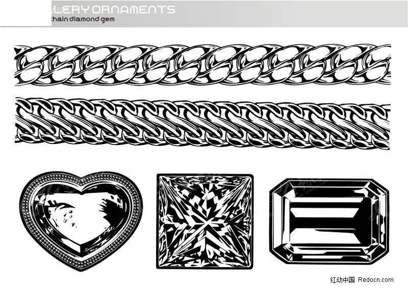钻石手绘效果图黑白