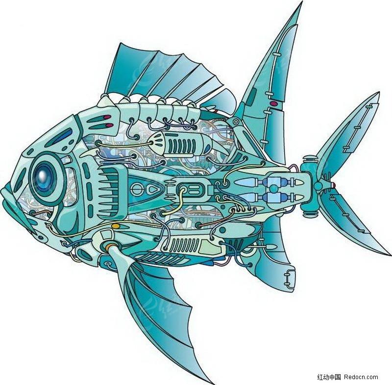 手绘图鱼 3d效果