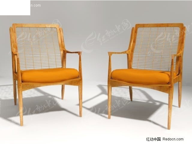普通藤编椅子3d模型_家具模型