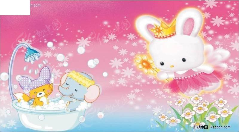 可爱的卡通兔子图片