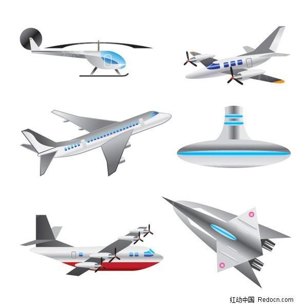 飞机矢量素材矢量图_交通工具