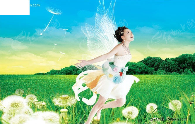 天使美女风景素材图 人物psd素材下载编号:217741 666