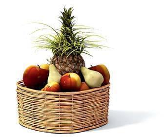 水果篮3d模型3dmax免费下载_动物植物素材