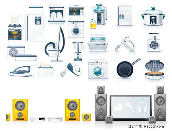 家用电器厨具图标矢量素材