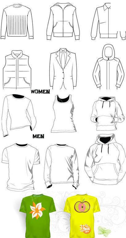 服装新手设计素描图