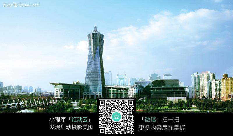 杭州城市高楼建筑