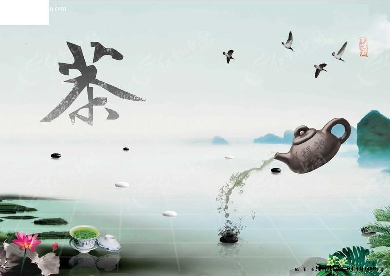 中国茶文化展板素材 展板户外