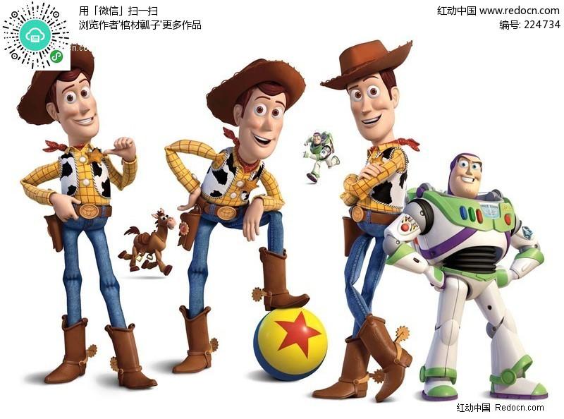 玩具总动员3角色人物素材