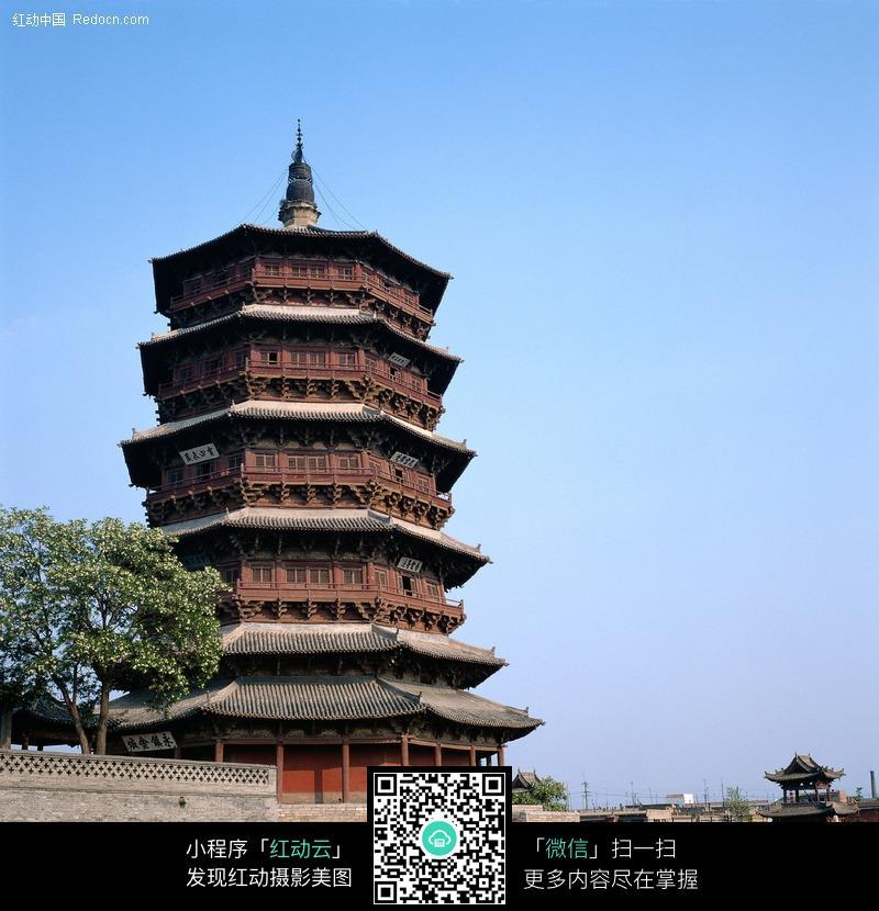 中式塔楼图片