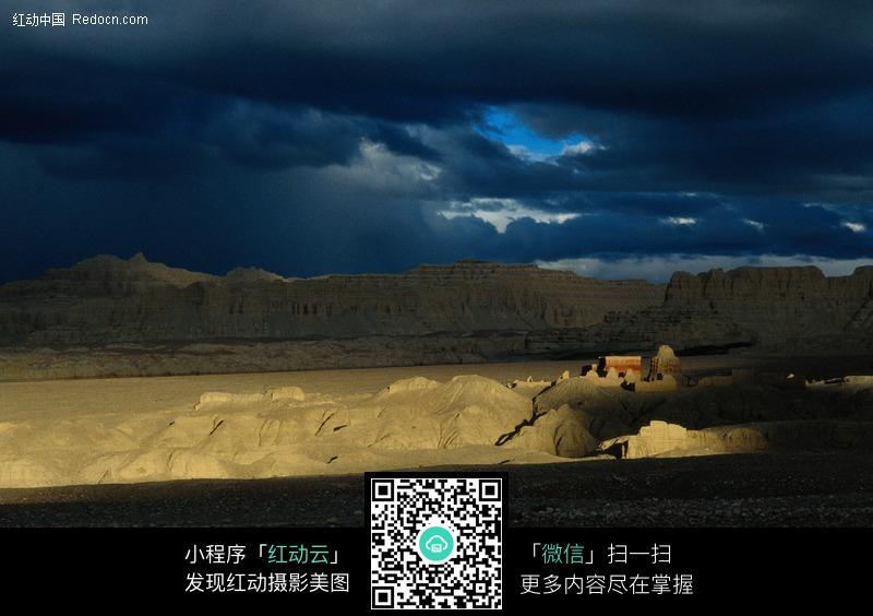 城墙 乌云 遗址 古迹图片 摄影图片  名胜古迹 风景名胜