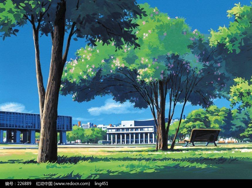 校园一角绘画欣赏(编号:226889)图片