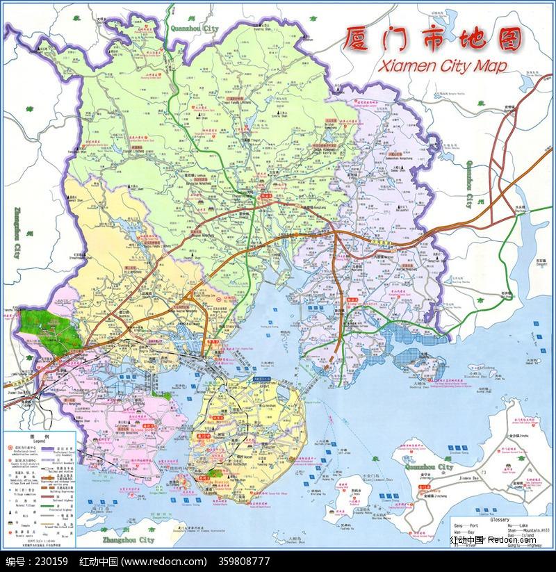 厦门市地图图片