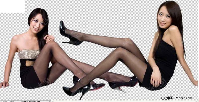 高清黑丝袜高跟鞋美女素材图片