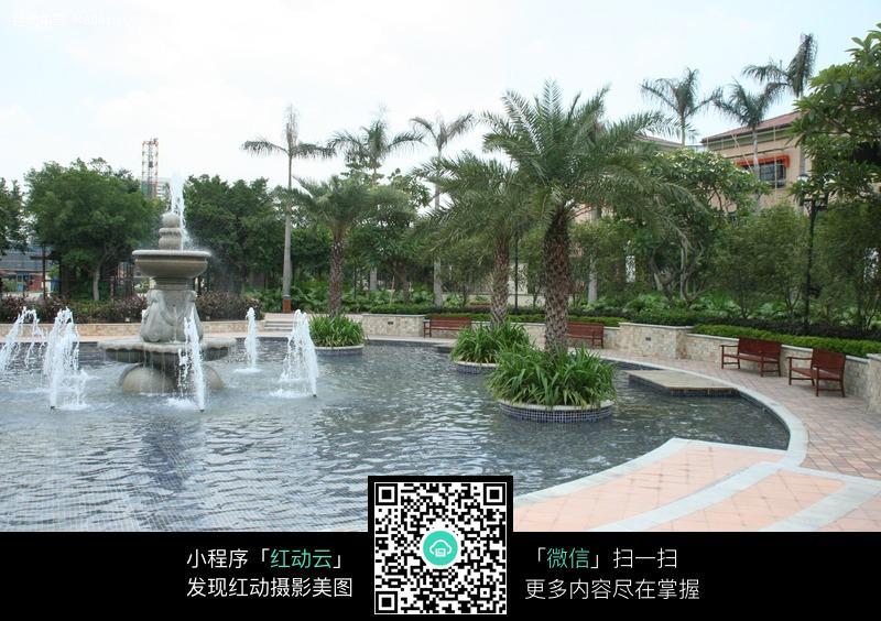 免费素材 图片素材 环境居住 建筑设计 园林水池喷泉