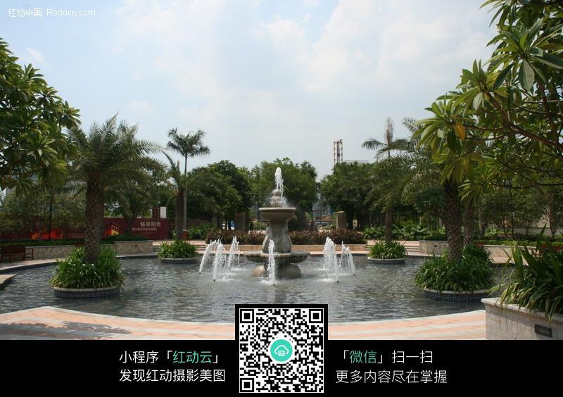 喷泉水景图片_建筑设计图片图片