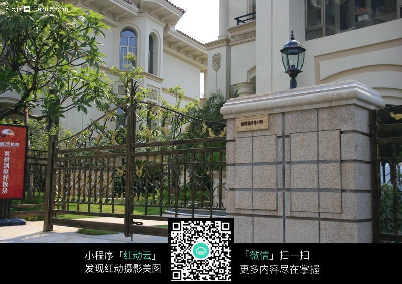 欧式别墅入口_建筑设计图片_红动手机版