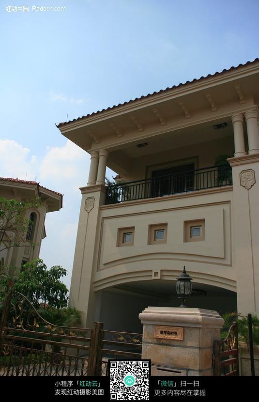 欧式别墅入口图片_建筑设计图片图片