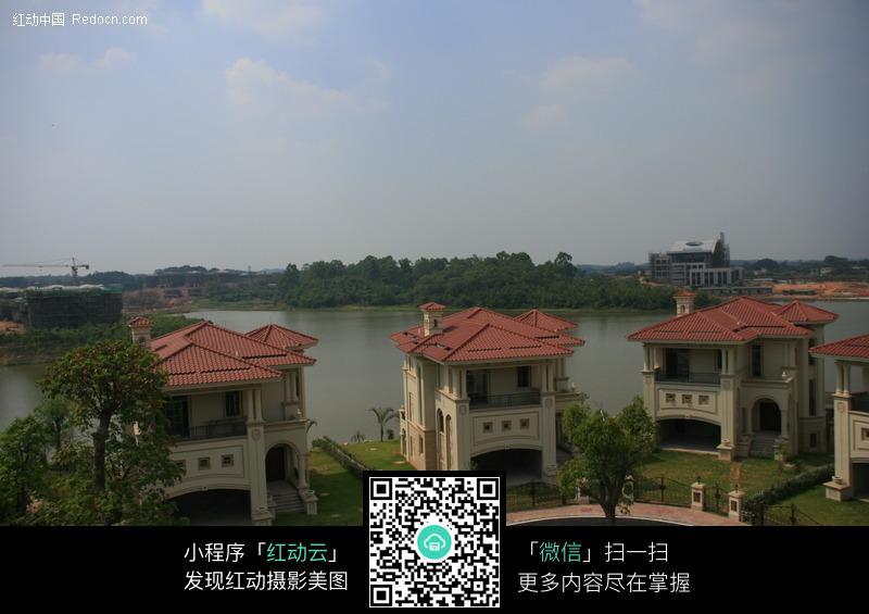 俯瞰湖边独栋别墅别墅图片顺义园毓图片秀图片