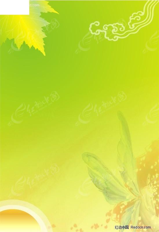 浅绿色欧式花纹壁纸