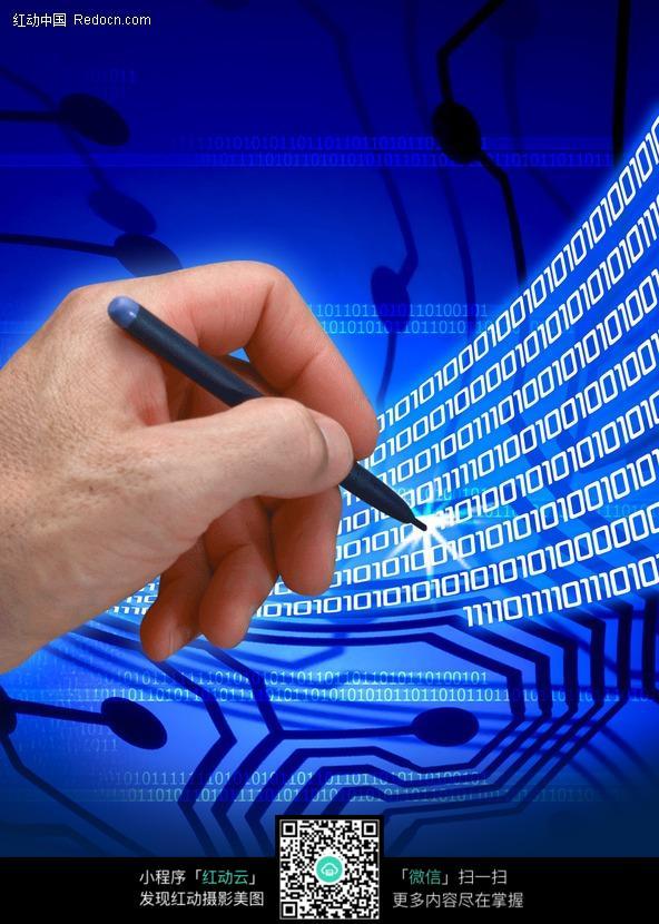 标签:科技背景素材 手拿着笔 电路板 电脑科技 手 笔 蓝色&