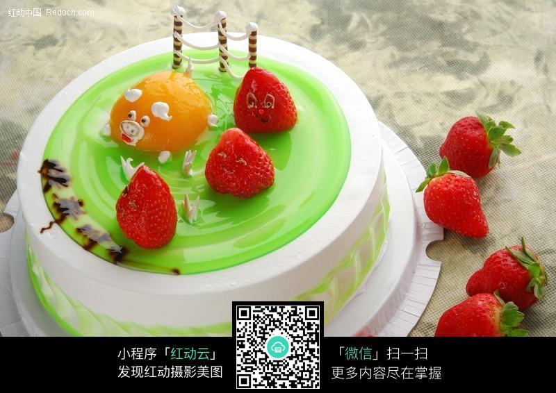猪猪的a图片v图片图片的可爱图案蛋糕免费下载_红动网湾美食节城台汇悦图片