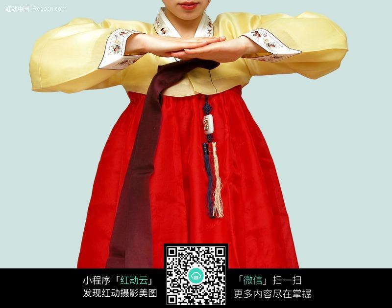 古典韩服美女图片