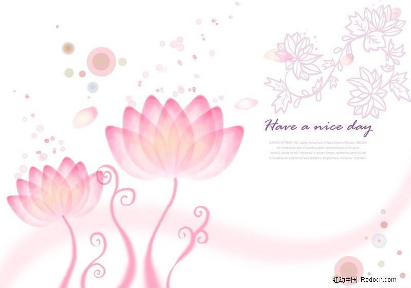 ps水彩花朵背景图图片