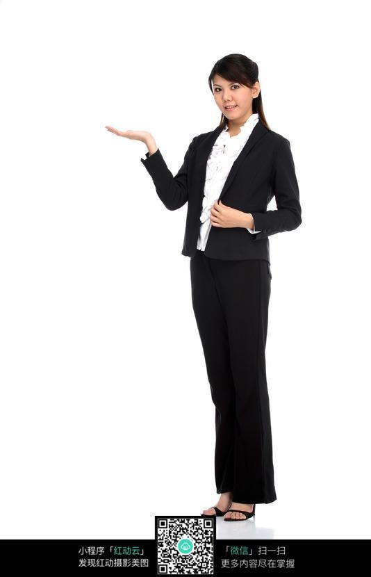 穿工装的职业美女图片